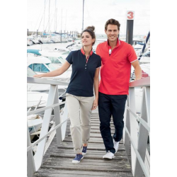 POLO  FEMME  INT COL ROUGE