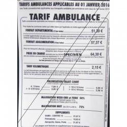 TARIF AUTOCOLLANT ILE DE FRANCE, unité