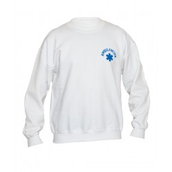 SWEAT COL ROND HOMME BLANC