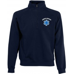 SWEAT COL CAMIONNEUR HOMME MARINE
