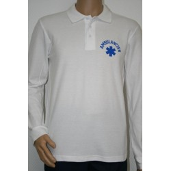 POLO MANCHES LONGUES HOMME BLANC